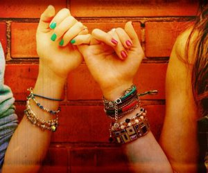 girls, nails, and hands image