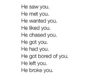 broken, he, and heartbreak image