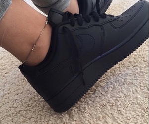 air force 1, black, and luxury image
