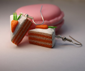 earrings, do it yourself, and cake image