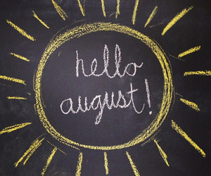 August, drawing, and summer image