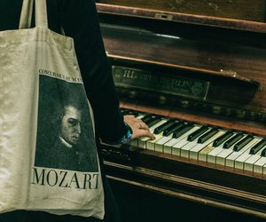 Mozart, piano, and music image