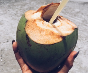 coconut, pretty, and drink image