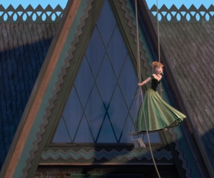 frozen, anna, and window image