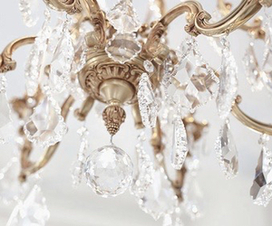 chandelier, gold, and luxury image