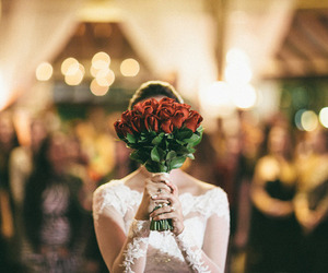 bride, flowers, and love image