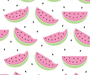 girl, pink, and watermelon image