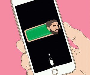 Drake, iphone, and pink image