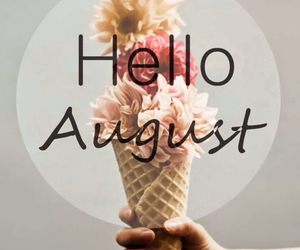 August, hello, and ice cream image