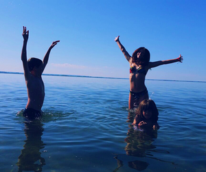 bathing, bikini, and summer image