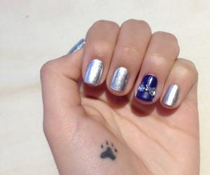 blue, elegant, and nails image