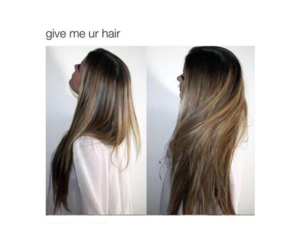 long hair and phrase image