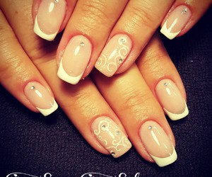 french, nails, and nailart image