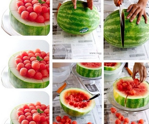 bowl, green, and watermelon image
