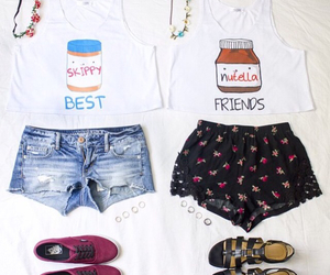 fashion, outfit, and nutella image