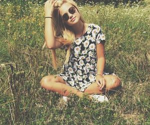 olivia holt, blonde, and flowers image