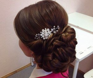 day, wedding, and hairstyle image
