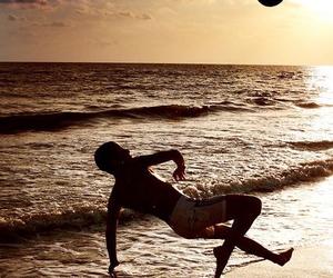 football, beach, and soccer image