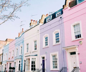 pastel, pink, and house image