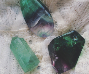 grunge, crystal, and green image