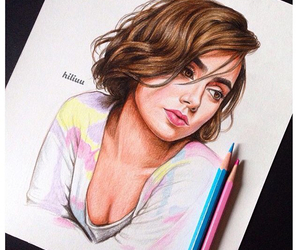 draw, lily collins, and love rosie image