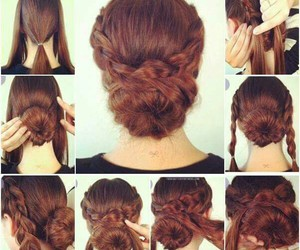 braid, up do, and hair tutorial image