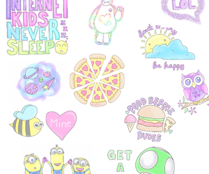 minions, pizza, and wallpaper image