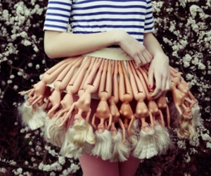 barbie, skirt, and doll image