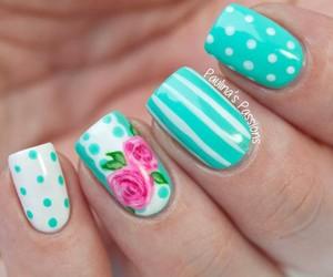 nail art and rose image