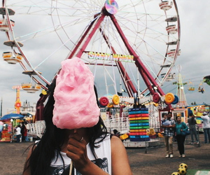 girl, grunge, and cotton candy image