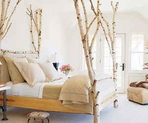 bedroom, bed, and wood image