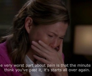 grey's anatomy, meredith grey, and pain image