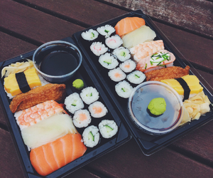 food, sushi, and japanese image