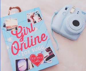 book, blue, and girly image