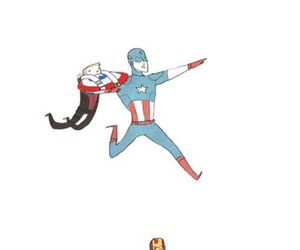 captain america, hawkeye, and iron man image
