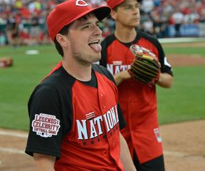 josh hutcherson, baseball, and the hunger games image