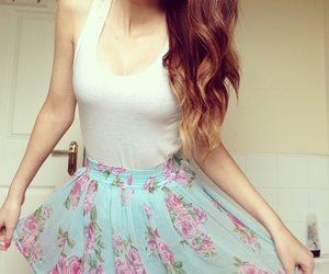 skirt and flowers image