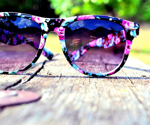 beauty, glasses, and summer image