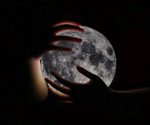moon, hands, and light image