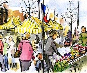 sketch and market image
