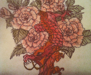 art, chinese, and dragon image