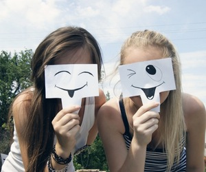 girl, smile, and friends image