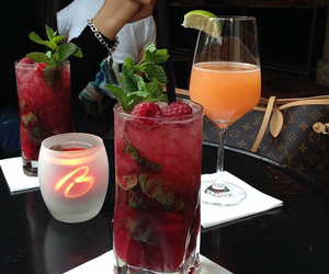 colorful, drinks, and mint image