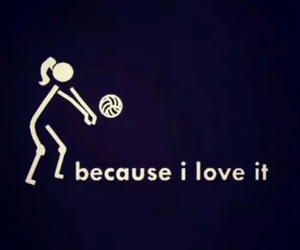volleyball :) and volleyball love practice image