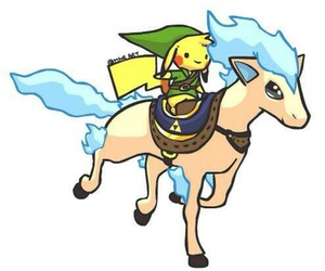 link, pokemon, and pikachu image