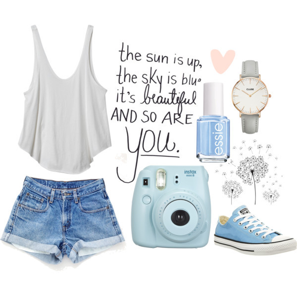 blue, converse, and outfit image