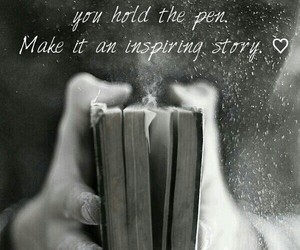 books, inspirational quotes, and past image