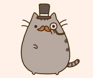 cat, pusheen, and mustache image