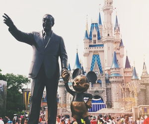 castle, disney, and mickey mouse image