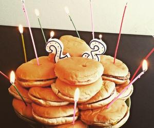 birthday, burger, and cake image